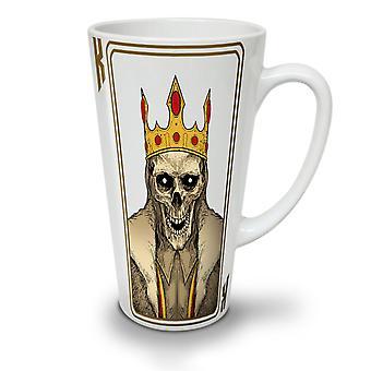 King Skeleton NEW White Tea Coffee Ceramic Latte Mug 17 oz   Wellcoda
