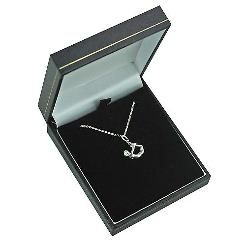 Silver 13x15mm Bow Pose Yoga Position Pendant with a rolo Chain 18 inches