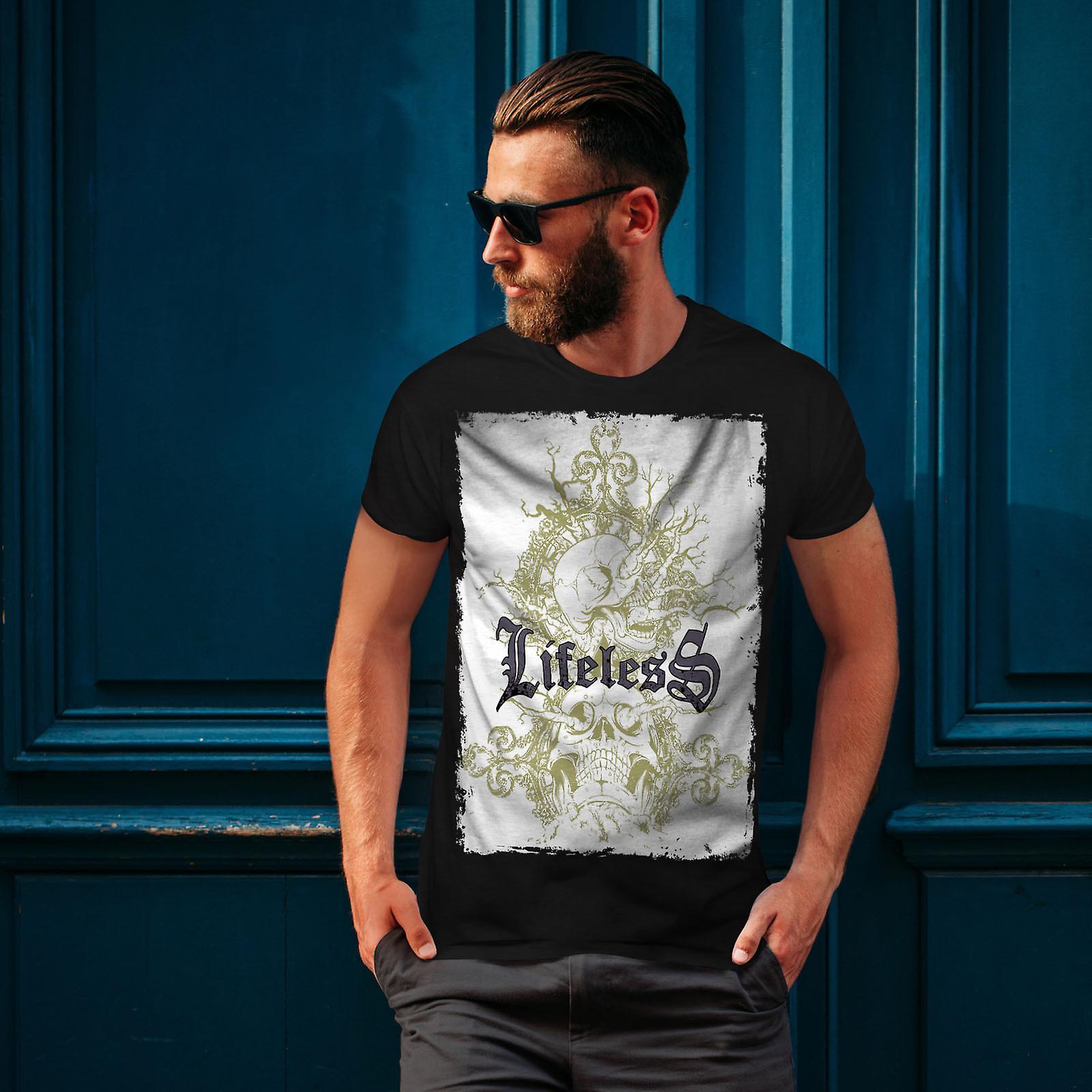 Senza vita gotico teschio BlackT-camicia uomo | Wellcoda
