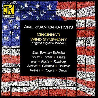 Cincinnati Wind Symphony - amerikansk variationer [CD] USA importerer