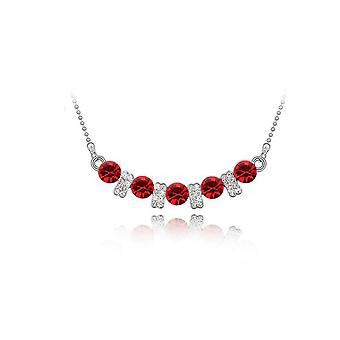 Womens Crystal Red Colour Stone Pendant Necklace