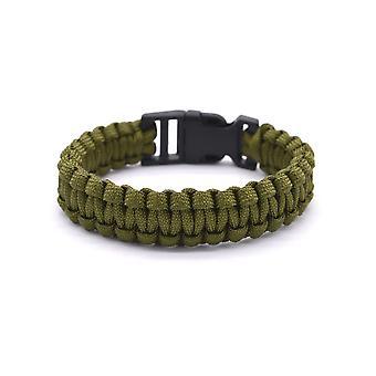 Rope khaki survival bracelet