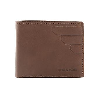 Police Men Wallets Brown
