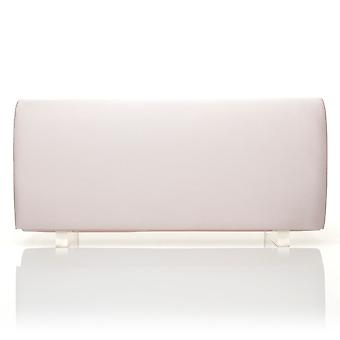 SIMPLE Baby Pink Satin Medium Size Round Fold Over Clutch Bag