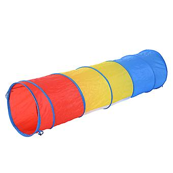PawHut 3 Colour Cat Pop Up Tunnel Dog Agility Traning Pet Play Run Through Game Colourful Toy One Way Shape Exercise Cave w/ Carry Bag