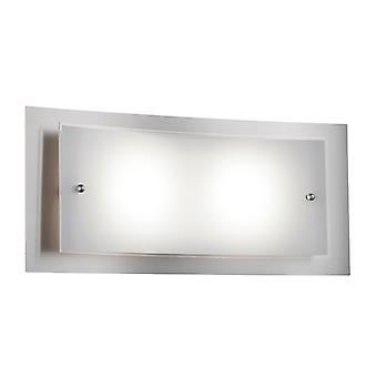 Trio Leuchten Modern Rectangle Wall Lamp Matte Nickel Incl. LED - Casillas