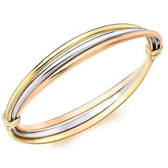 IBB London Russian Style Bangle - Gold/Silver/Rose Gold