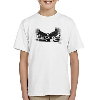 Citroen DS Faded Effect Paris Arc De Triomphe Kid's T-Shirt