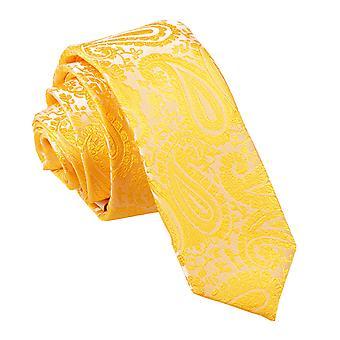Schmaler Krawatte Gold Paisley