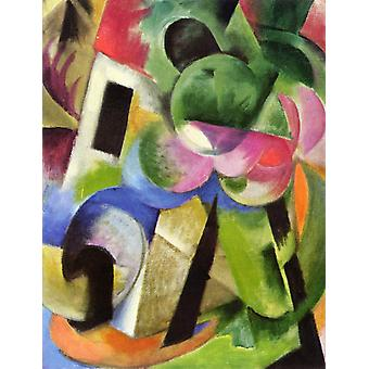 Small Composition ii,Franz Marc,50x40cm