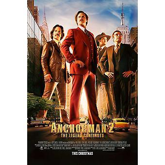 Anchorman 2 la leggenda continua Movie Poster (11x17)