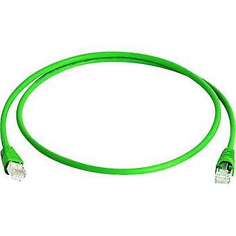 RJ45 Networks Cable CAT 6A S/FTP 0.25 m Green Flame-retardant, Halogen-free Telegärtner