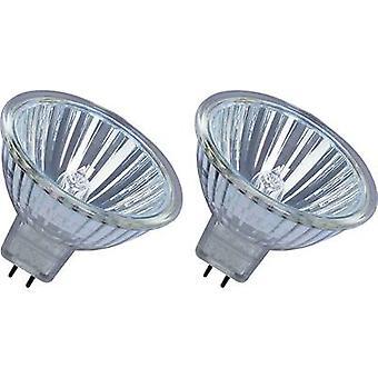 OSRAM Eco halogen EEC: B (A++ - E) GU5.3 45 mm 12 V 25 W Warm white Reflector bulb dimmable 2 pc(s)