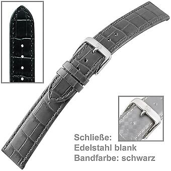 Uhrenarmband Uhrenband schwarz für Herrenuhr U.-Armband Men XL 20 mm