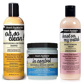Aunt Jackie's Oh So Clean Shampoo, In Control Conditioner & Knot on My Watch Detangling Therapy