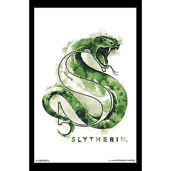 Harry Potter - Slytherin Illustrated Poster Print