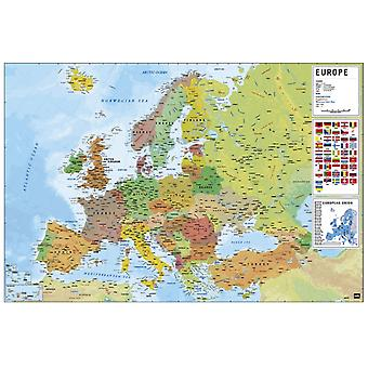 Europe Map Poster Poster Print