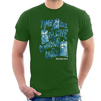 Doctor Who Warped Tardis Men's T-Shirt