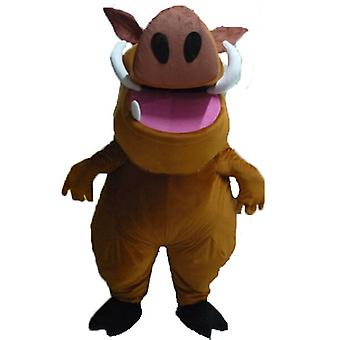 mascot SPOTSOUND of Pumba, famous warthog from the cartoon the lion king