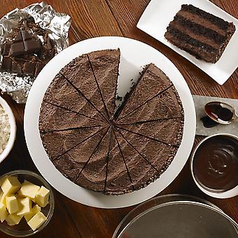 Handgemachte Kuchen Vegan belgische Schokolade Fudge Kuchen eingefroren