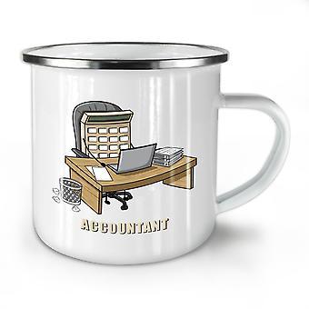 Accountant Job NEW WhiteTea Coffee Enamel Mug10 oz | Wellcoda