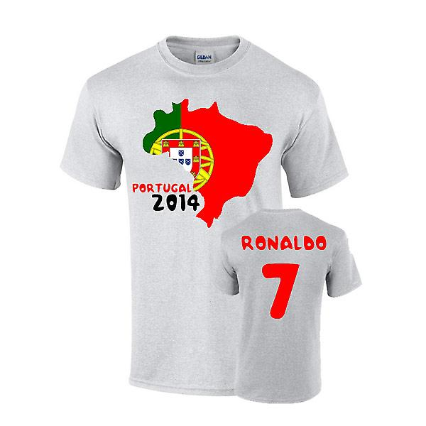 Portugal 2014 land vlag T-shirt (ronaldo 7)