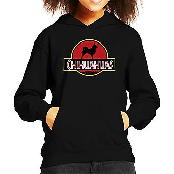 Chihuahuas hond Jurassic Park Mix Kid's Hooded Sweatshirt