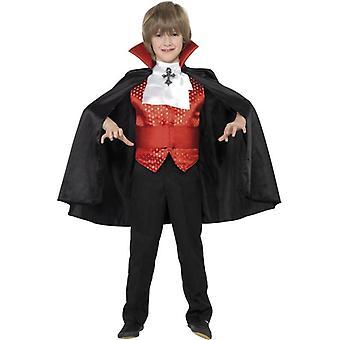 Traje de Dracula Boy, edad grande 10-12