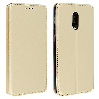 Slim Classic Edition stand case with card slot for OnePlus 6T - Gold