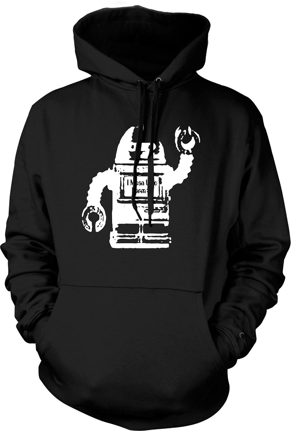 Mens Hoodie - Future Robot I Mean No Harm - Graphic Design