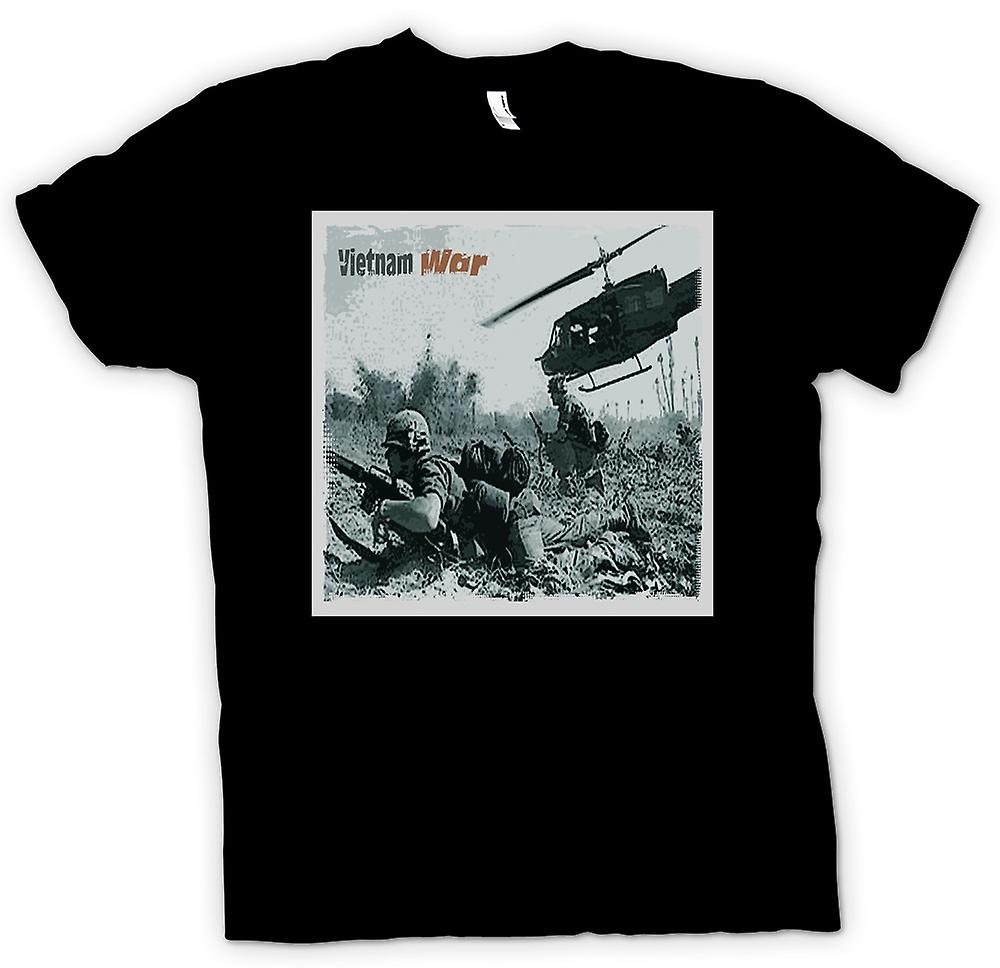 Mens T-shirt - guerre du Vitnam - Action Photo