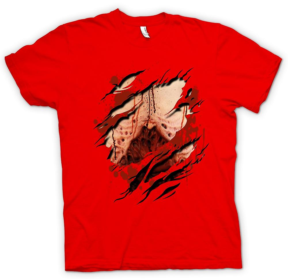 Mens T-shirt - zombies morts-vivants Gory poumons déchiré Design