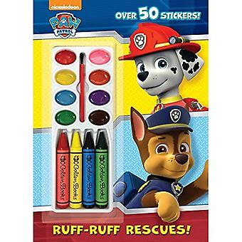 Ruff-Ruff Rescues! (Paw Patrol) (Color and Paint Plus Stickers)