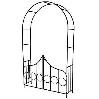 Arche arceau rosier treillis de jardin support pour plantes grimpantes avec portillons 2008079