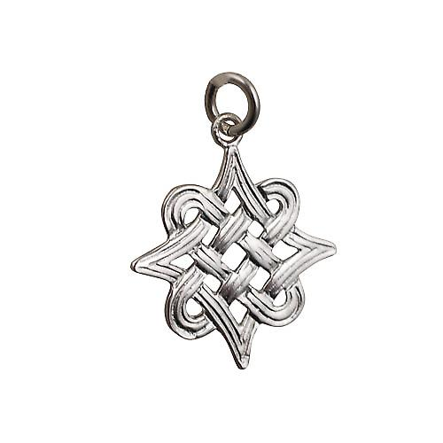 Silver 23x23mm Celtic knot Pendant