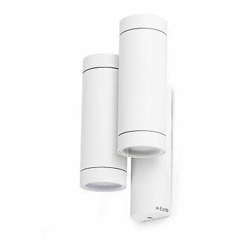 Faro - Steps White Four Light Outdoor Wall Light FARO75502