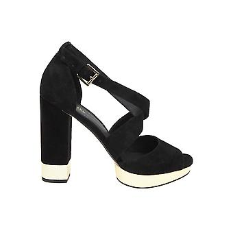 Michael Kors Black Suede Sandals
