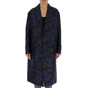 معطف الألياف الاصطناعية الأزرق برادا