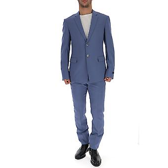Prada Light Blue Wool Suit