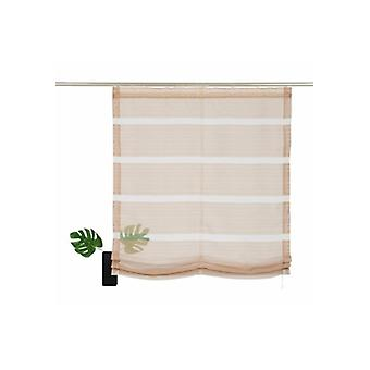 my home curtain transparent Roman shade with woven stripes Brown