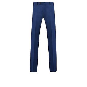 Dobell Mens lys blå bukse Slim Fit