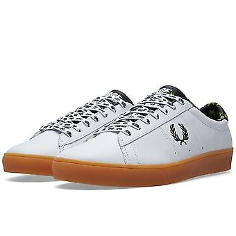 Fred Perry X Space Invaders Men's Spencer Leather Trainers - SB6008-100
