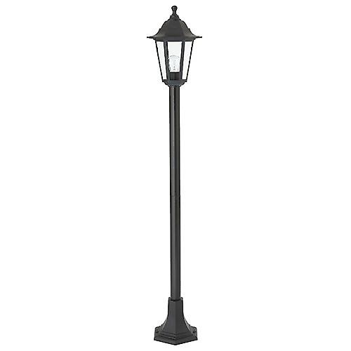Saxby EL-40047 Bayswater Single IP44 60W Outdoor Bollard Post In Black
