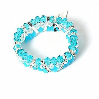 Park Lane Ladies Light Blue & White Beads Bracelet