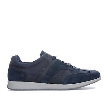 Mens Geox Avery Trainers In Navy