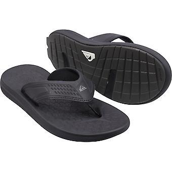 Quiksilver Mens Layover Travel Vegan Casual Sandals - Black