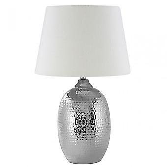 Premier Home Jane Table Lamp, Ceramic, Mixed Plant Fibre, Cream