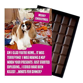 Cavaliar König Charles Spaniel lustige Weihnachtsgeschenk für Hund Liebhaber Schokolade Gruß Xmas Geschenk