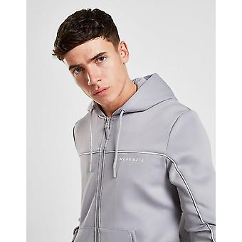 New McKenzie Men's Essential Poly Zip Through Hoodie Grey