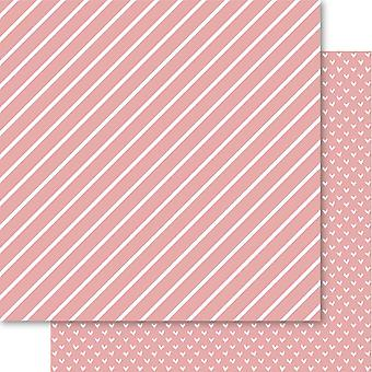 Bella Hearts & Stripes Foiled Cardstock 12